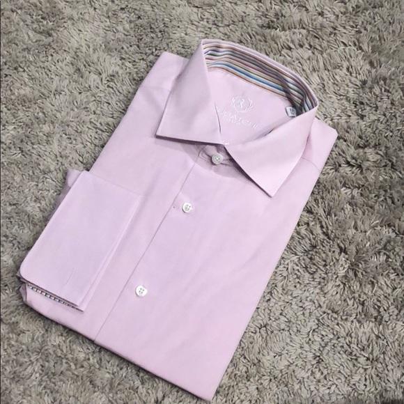 Bugatchi Other - NWT Bugatchi pink dress shirt stripe 16.5 36/37